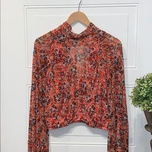 Free People blouse All dolled up medium floral